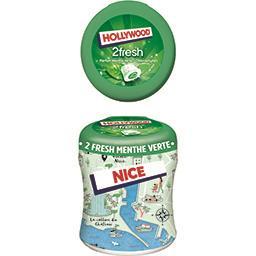 Hollywood Chewing-gum 2 Fresh parfums menthe verte/chlorophyll...