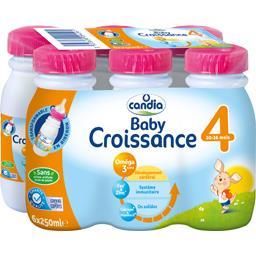Candia Baby - Lait bébé Croissance 4 les 6 bouteilles de 25 cl