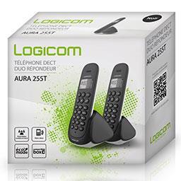 Téléphone Dect Duo répondeur Aura 255 T noir