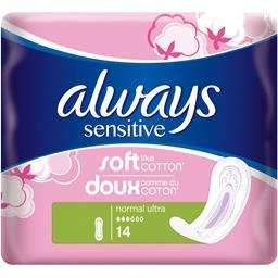 Serviettes hygiéniques Sensitive Normal Ultra