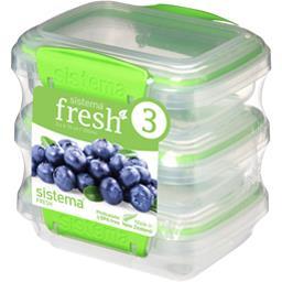 Boites alimentaires rectangulaires à clips Fresh 200 ml