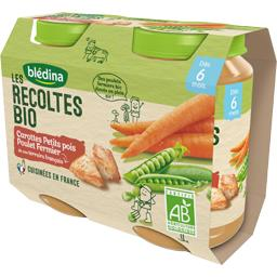 Les Récoltes BIO - Carottes petits pois poulet BIO, ...
