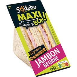 Simple & Bon ! - Sandwich Maxi jambon beurre