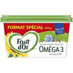 Fruit d'Or Margarine riche en Oméga 3 demi-sel la barquette de 600 g - Format Spécial
