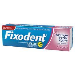 Crème adhésive prothèses dentaires fixation extra fo...