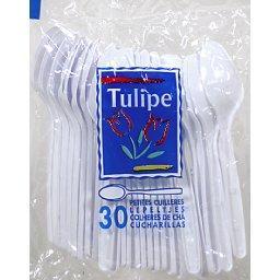 Petites cuillères en plastique  blanches