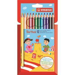 Crayons de couleur larges Trio Thick