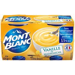 Mont Blanc Crème dessert vanille de Madagascar