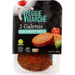 Monique Ranou Les Végétales - Steaks tomate & basilic soja la barquette de 2 steaks - 200 g