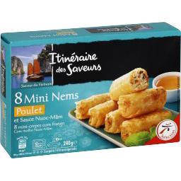 Mini Nems poulet et sauce Nuoc-mâm