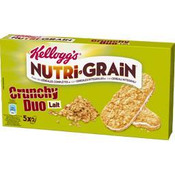 Nutri-Grain - Biscuits Crunchy Duo lait céréales complètes