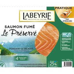 Labeyrie Saumon fumé le paquet de 4 tranches - 120 g