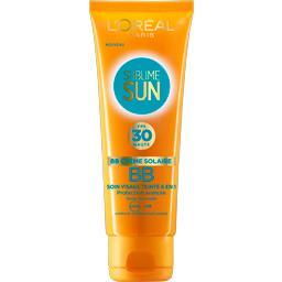 BB crème solaire, soin visage teinté 6 en 1 FPS 30