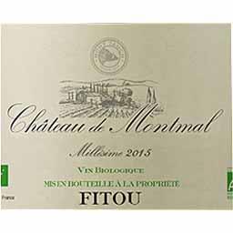 Fitou Château de Montmal BIO vin Rouge 2015