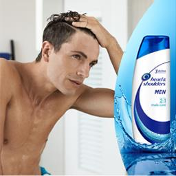 Male care 2 en 1 pour homme - shampooing antipellicu...