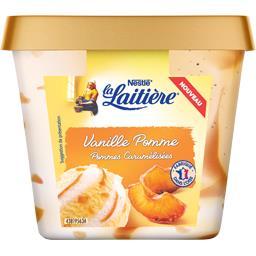 Crème glacée vanille pomme