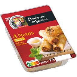 Nems poulet et sauce Nuoc mam