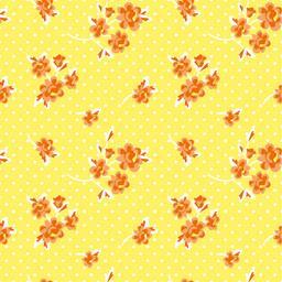 Serviettes 3 plis 40x40 cm jaune Milleflora