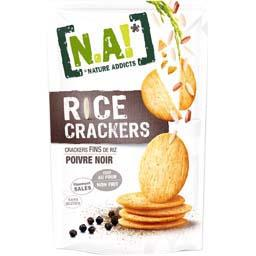 Crackers fins de riz Rice Crackers poivre noir