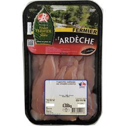 Les fermiers de l'ardèche Aiguillettes de poulet La barquette de 8 - 300 gr