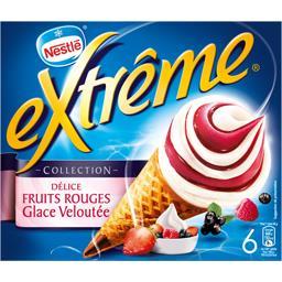 Collection - Cônes Délice fruits rouges glace velout...