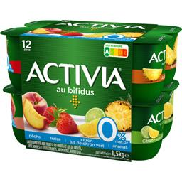 Activia - Lait fermenté aux fruits 0% MG