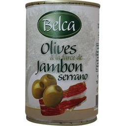 Olives à la farce de jambon Serrano