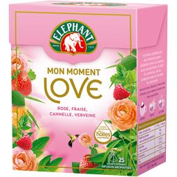 Infusion Mon Moment Love rose, fraise, cannelle, ver...