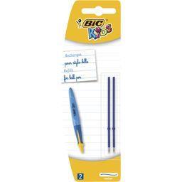 Recharges pour stylo-bille d'apprentissage medium bleu