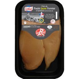 Filet de poulet jaune fermier d'Auvergne Label Rouge