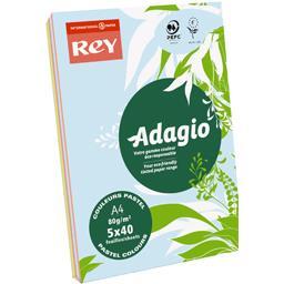 Feuilles couleurs pastel Adagio A4 80 g