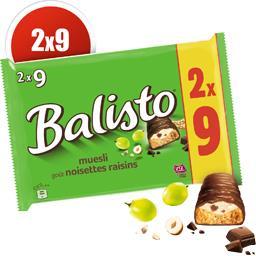 Barres chocolatées goût noisettes raisins