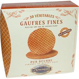 La Dunkerquoise Véritables gaufres fines pur beurre caramel beurre s... la boite de 240 g