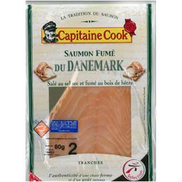 Capitaine Cook Saumon fumé du Danemark le paquet de 2 tranches - 80 g