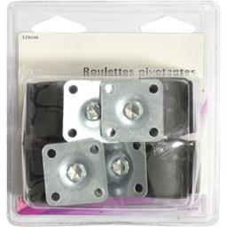 Roulettes pivotantes plastique 38mm