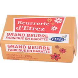 Grand beurre fabriqué en baratte