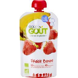 Good Goût Purée fraise banane BIO, dès 6 mois