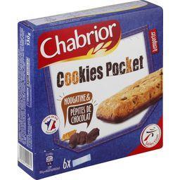 Cookies Pocket nougatine & pépites de chocolat