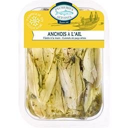 Filets anchois marines a l'ail