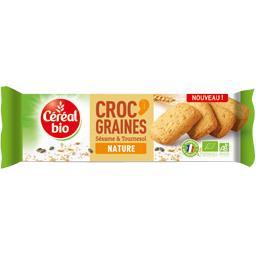 Biscuits Croc' Graines sésame & tournesol nature BIO