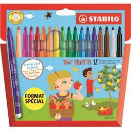 Stabilo Feutres de coloriage trio frutti