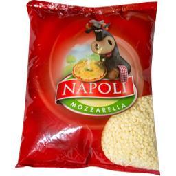 Napoli Mozzarella cossettes le sachet de 2 kg environ