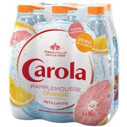 Carola Boisson pétillante pamplemousse orange zéro sucres les 6 bouteilles de 50 cl