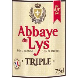 Bière blonde des Flandres Triple