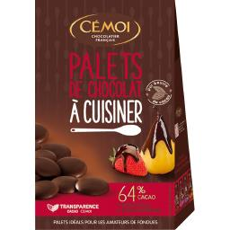 Palets de chocolat noir suprême à cuisiner