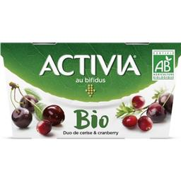 Activia - Yaourt duo de cerise & Cranberry BIO