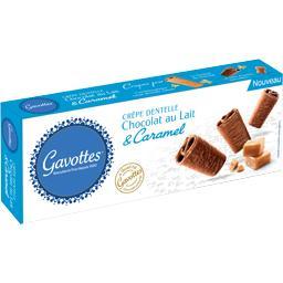 Crêpes dentelle chocolat au lait & caramel