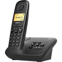 Téléphone sans fil A 170 A, noir