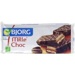 Gaufrettes Mille'Choc enrobées de chocolat noir BIO