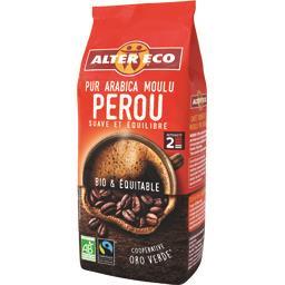 Café moulu pur arabica Pérou BIO & équitable